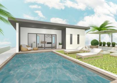 Modélistaion 3D d'un aménagement extérieur - Par Chelsea Labillois